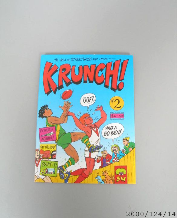 2000/124/14 Comic book, 'Krunch!', issue 2, volume 1, paper, Streetwize Comics, Australia, 1997. Click to enlarge.