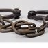 Image 9 of 9, H9558 Leg manacles, iron, maker unknown, Australia, 1788-1868. Click to enlarge