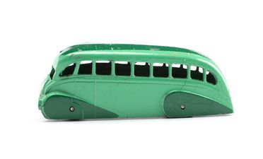 2008/158/1-5 Toy bus, part of collection, 'Holland Coachcraft Streamlined Bus (29b)', metal, Meccano Ltd, Liverpool, England, 1934-1940, used Wyatt family, Hobart, Tasmania / Roseville, New South Wales, Australia, 1935-1942