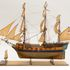 "Image 4 of 20, B2371 Ship model, sloop HMS 'Investigator' in which Matthew Flinders circumnavigated Australia 1801-1803, brass / copper / various woods / flax / bamboo / bone, scale 1/8"" to 1', made by Roland Michel Laroche, Sydney, New South Wales, Australia, 1980. Click to enlarge"