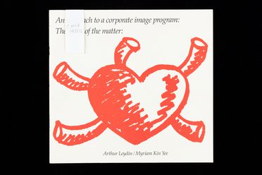 2003/44/1-6/22 Booklet, 'An approach to a corporate image program: The heart of the matter', paper, designed and created by Arthur Leydin and Myriam Kin Yee, Sydney, New South Wales, Australia, mid 1980s