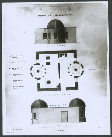 P3549-6 Photograph, plans of Parramatta Observatory