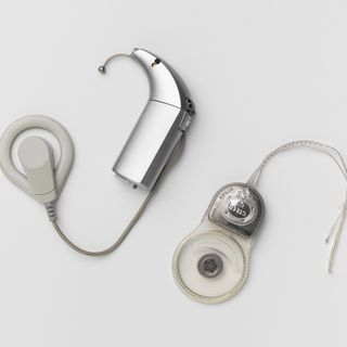 2003/134/2 Cochlear implant, Nucleus 24 Contour, metal / plastic, made by Cochlear Ltd, Sydney, New South Wales, Australia, 2003