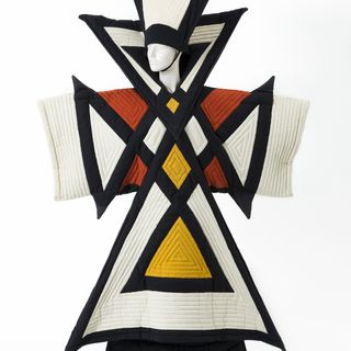 2001/84/146 Performance costume, 'Harvest Goddess', fabric / foam rubber, designed by Jenny Kee, made by Paula Martin and Greg Somerville, used in Opening Ceremony of Sydney 2000 Olympic Games, Australia, 1999-2000
