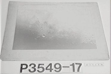 P3549-17 Photograph, black and white, closeup of moon's surface