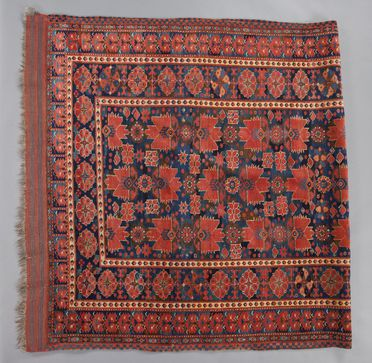 2009/72/1 Carpet, 'Khanate of Bukhara', knotted wool, made by a Turkmen Beshir weaver, western Central Asia, c. 1850