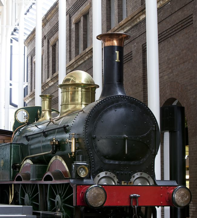 7949 Locomotive, steam, No. 1, full size, 0-4-2, hauled the first passenger train in New South Wales in 1855, designed by James McConnell, made by Robert Stephenson and Company, Newcastle-on-Tyne, England, 1854, used by New South Wales Government Railways 1855-1877. Click to enlarge.