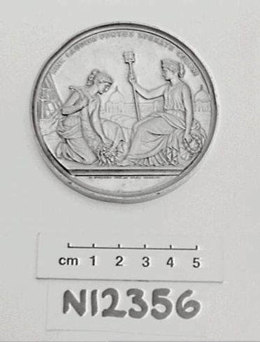 N12356 Prize medal, London International Exhibition, silver, designed by W Kullrich, London, England, 1862