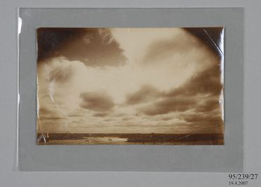 95/239/27 Photographic copy print, storm clouds over the harbour taken from Sydney Observatory, paper / silver gelatin emulsion, photographer James Short and Henry Chamberlain Russell, Sydney, New South Wales, Australia, 1900-1940