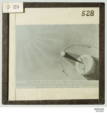 85/59-3/30 Glass plate slide, Moon's shadow in total eclipse