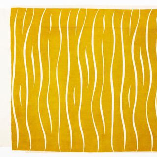 85/2453 Fabric length, 'Tiger stripe', cotton, screen-printed cotton, designed and printed by Frances Burke, Melbourne, Victoria, Australia, 1939 - 1942