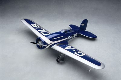 89/719 Aircraft model, 1:12 scale, Lockheed Altair, 'Lady Southern Cross', in which Sir Charles Kingsford died in 1935, made by Iain Scott-Stevenson, Powerhouse Museum, Sydney, New South Wales, Australia, 1988-1989