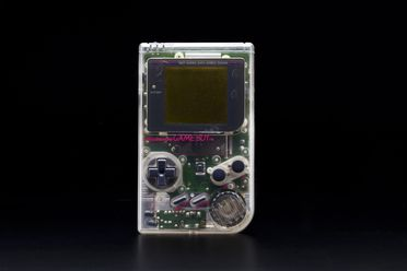 2012/73/1 Electronic toy, Game Boy, with case, game cartridges (3) and user manual, plastic / rubber / electronic components, designed by Gunpei Yokoi, made by Nintendo, Japan / China, 1995