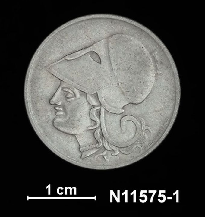 Coin, Greece, One Drachma, 1926, nickel  - MAAS Collection