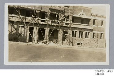 2007/61/1-3/45 Photographic print, black and white, Crown Hotel under construction, Wollongong, New South Wales, Australia, c.1927