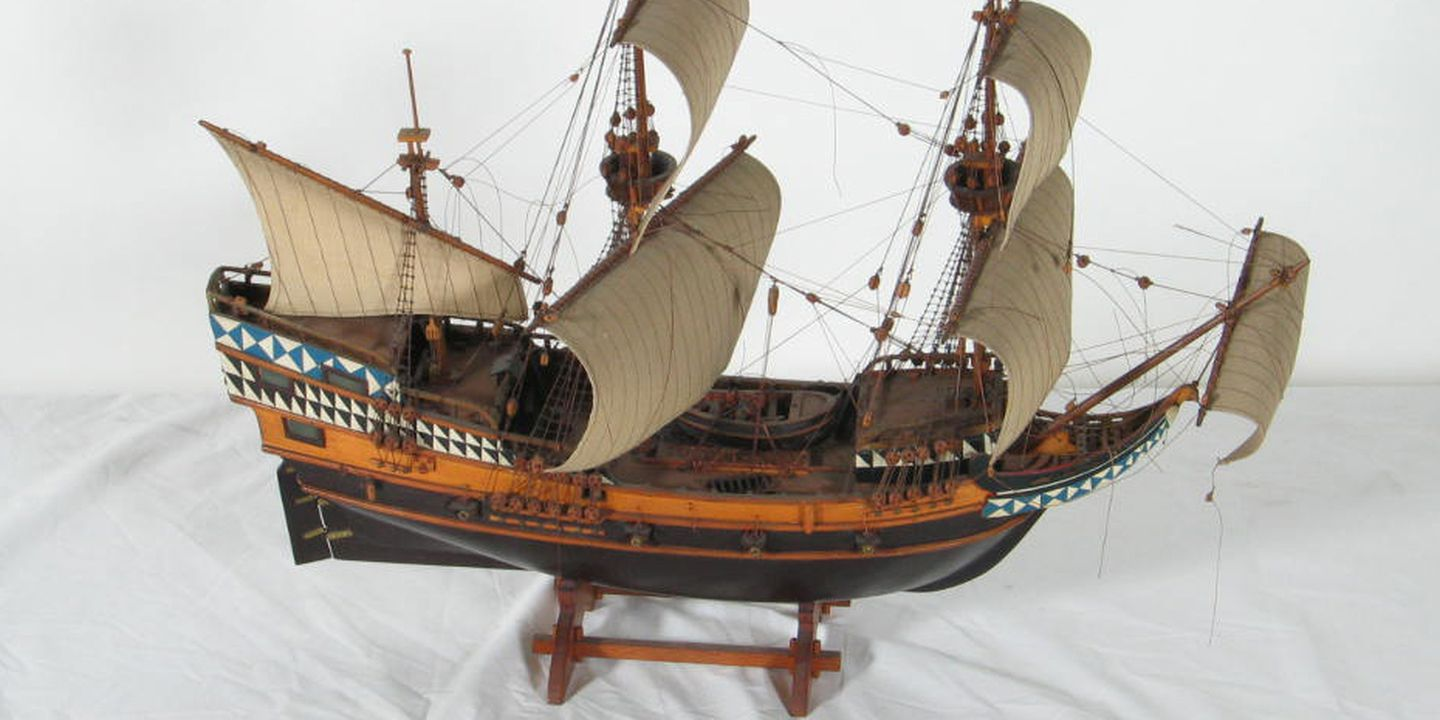 ship model the mayflower 1620 galleon maas collection