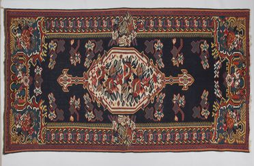 85/24 Kilim, weft-face slit tapestry weave, wool or goat hair, made by Kurdish women, Bijar, Kurdistan, Iran, 1930-1950