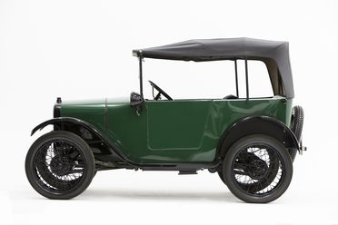 B1515 Automobile, full size, Austin Seven Tourer, 10.5 hp, engine No. M49012, chassis numbr M48680, aluminium / mixed materials, made by Austin Motor Co Ltd, Longbridge, Birmingham, England, 1927