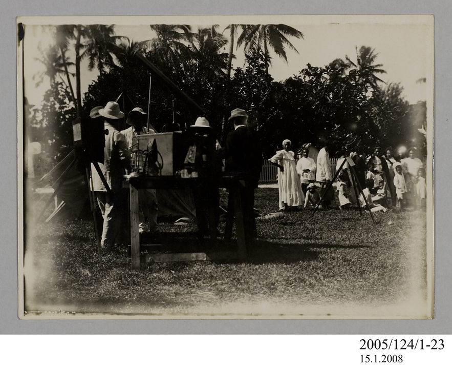 2005/124/1-23 Photograph, part of collection owned by James Short, black and white, Tahiti eclipse expedition, paper, photographer unknown, Tahiti, 1908. Click to enlarge.