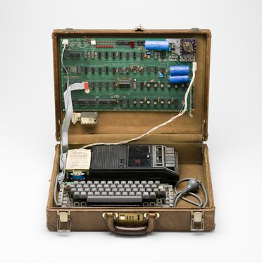 2010/6/1 Personal computer, 'Apple I', timber / plastic / metal / electronic components, designed by Steve Wozniak, made by Apple Computer, Palo Alto, California, United States of America, 1976