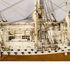 Image 14 of 46, H5217 Ship model in case, 72 gun French Frigate warship, possibly representing the 74 gun 'Le Heros', bone / wood / perspex, made by a Napoleonic prisoner-of-war, c. 1800. Click to enlarge