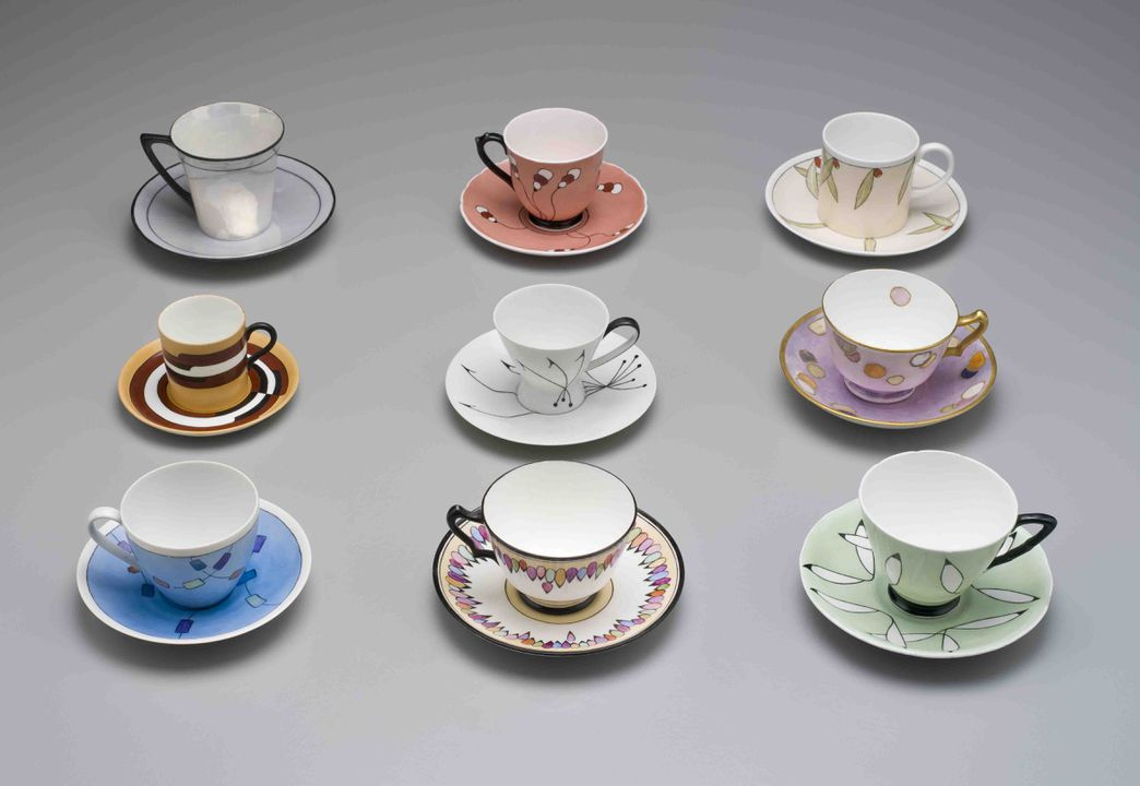 Hand-painted porcelain by Ethel Warburton - MAAS Collection