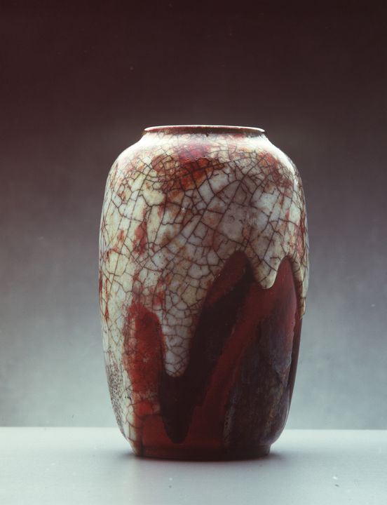 Vase, 'Chang ware', earthenware, made by Charles Noke and Harry