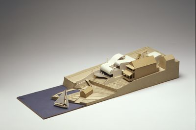 97/190/8-1 Architectural model, 'Meares Residence', cardboard / paper, designed and made by Harry Seidler and Associates, Sydney, New South Wales, Australia, 1995