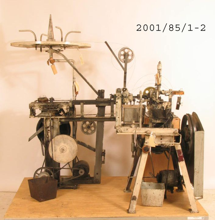 2001/85/1-2 Mouse and rat trap making machines (2), metal / wood, A W Standfield and Co, Mascot, New South Wales, Australia, 1925-2000. Click to enlarge.