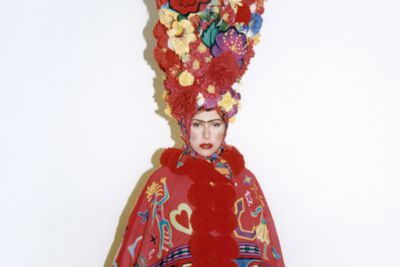 2001/84/199 Performance costume, titled 'Frida Exotica', wool / tulle / felt / wool / leather, designed by Jenny Kee, made by Rosie Boylan, Paula Martin and Greg Somerville, Ceremonies Workshop, used in Opening Ceremony of Sydney 2000 Olympic Games, Australia, 1999-2000