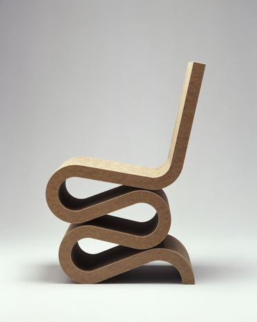 2003/83/1 Chair, 'Wiggle', cardboard, designed by Frank Gehry, United States, 1972, made by Vitra, Germany, 2002
