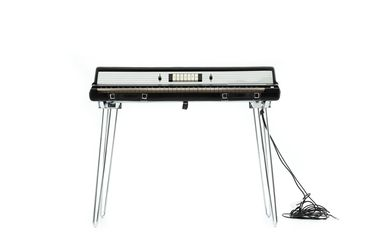 2021/70/9 Keyboard Instrument with case, 'RMI Electra-piano 368X', plastic / timber / metal / electronic components / rubber, by Rocky Mountain Instruments, North Carolina, United States of America, 1974