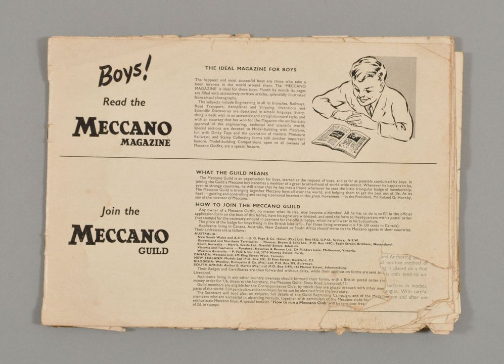 2013/120/164 Instruction book, 'Meccano Outfit No.2', paper, made by Meccano Ltd, Liverpool, England, 1958. Click to enlarge.