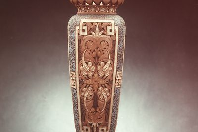 2859 Vase, stoneware, made by Doulton & Co, decorated by Rosetta Hazeldine and Edith Lupton, Lambeth, England, 1882