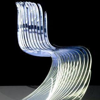 2013/74/1 Chair, Re-Loved Chair, acrylic, made by LAVA Laboratory for Visionary Architecture, Australia, 2010