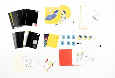 2020/20/1 'Florence' mobile game design and development archive including source code, source art, graphic files, design documents, concept art, sketchbooks, collector cards and pins, vinyl record with score, 'Making of' film, digital / paper / plastic / metal, by Mountains Studio, Melbourne, Austra