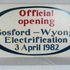 Image 1 of 1, 86/264 Railway Sign, 'Official Opening Gosford/Wyong Electrification', New South Wales, 1982. Click to enlarge