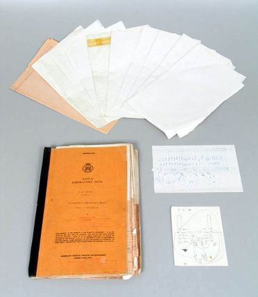 98/113/3-4 Laboratory note, 'The Fleetwork Trainer for H.M.S. Mercury', DX-63-2 Volume 2, paper / cardboard / metal, by Admiralty Surface Weapons Establishment, Portsmouth, England, 1963-1978