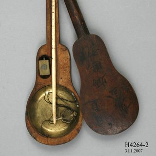 H4264 Gold scales in case, brass / steel / ivory / wood, maker unknown, China, 1850-1900