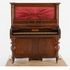 Image 2 of 9, H8405 Upright pianoforte, cedar / wood / textile / metal, made by John Benham, Sydney, New South Wales, Australia, c. 1835. Click to enlarge