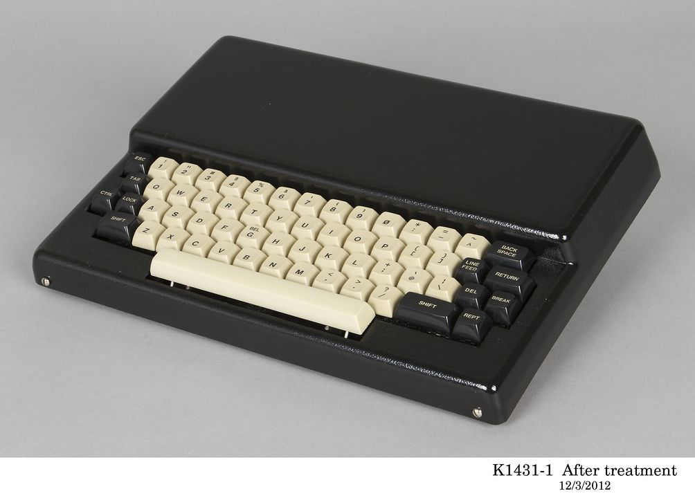 K1431 Microcomputer, 'Microbee', 16KROM with power supply unit, manual and brochures (7), plastic / metal / electrical components / paper, Applied Technology Pty Ltd, Hornsby, New South Wales, Australia, c. 1980. Click to enlarge.