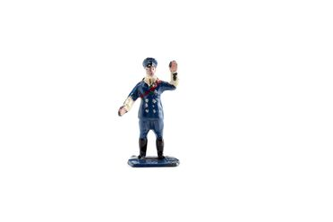 2008/158/1-7 Toy figurine, part of collection, 'RAC Guide Directing Traffic (43d)', metal, Meccano Ltd, Liverpool, England, 1934-1940, used Wyatt family, Hobart, Tasmania / Roseville, New South Wales, Australia, 1935-1942