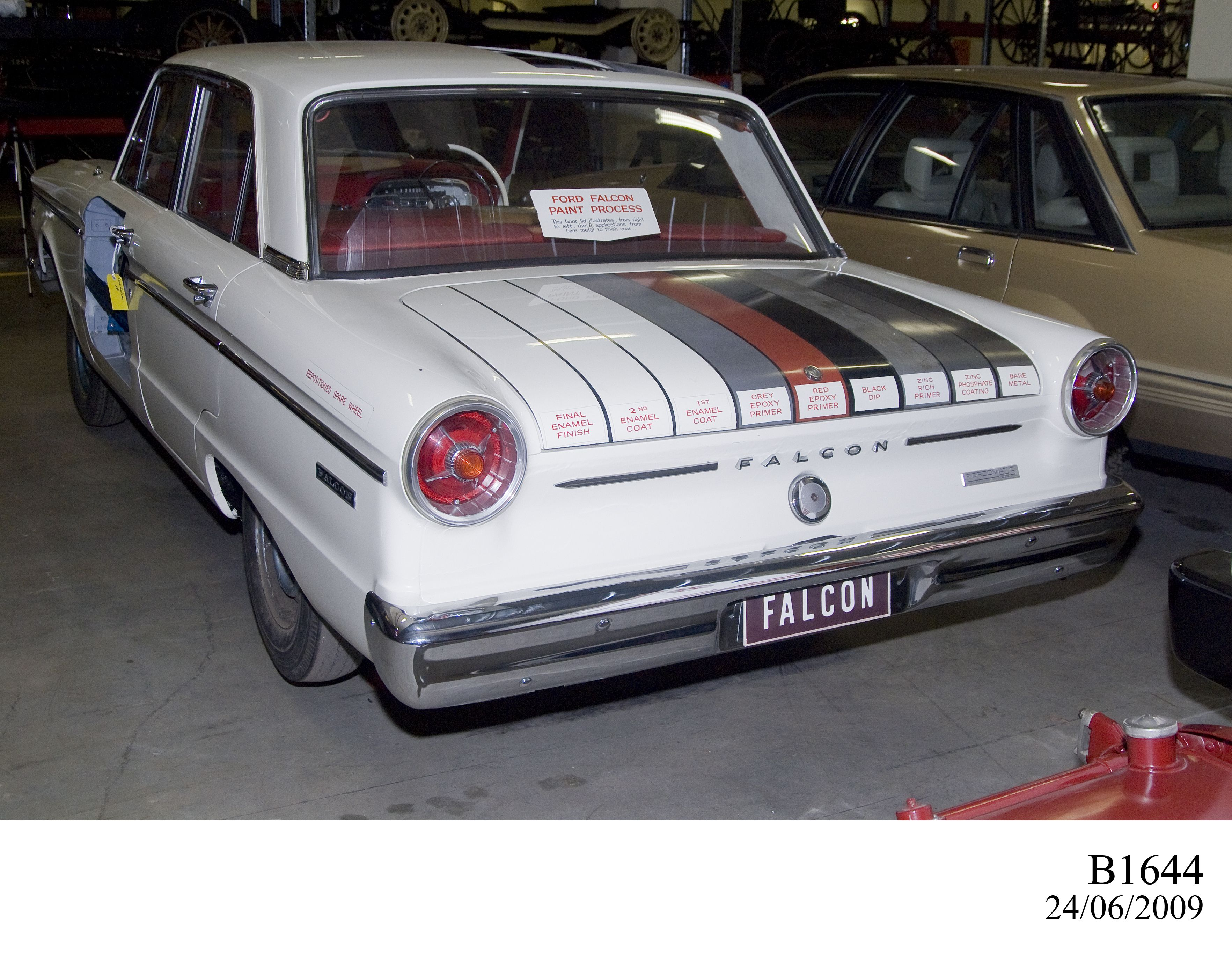 sectioned ford falcon xp car - maas collection