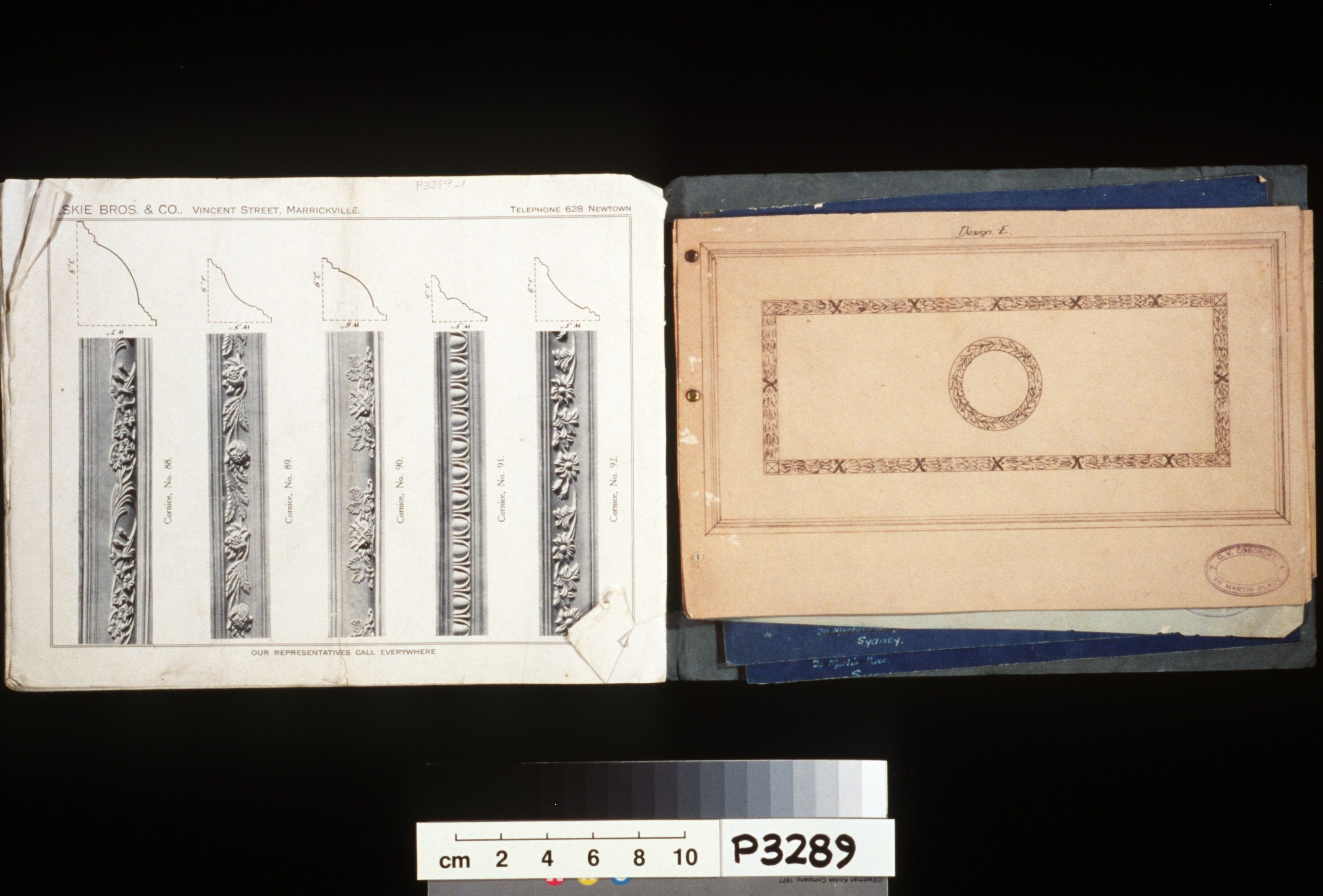 Catalogue, 'Fibrous Ceilings and Cornices', paper, architectural