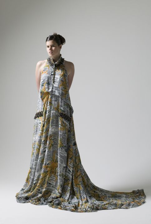 Dress designed by Easton Pearson to commemorate the 20th Anniversary