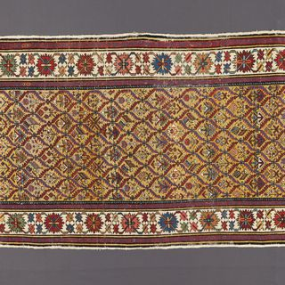 2004/136/2 Rug or runner, wool / cotton, Kuba region, northern Caucasus, 1850 - 1860