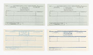 98/2/78-10 Telegrams (21), part of collection, various types, paper / ink, Australia Post / Postmaster Generals Department, Australia, 1941-1983