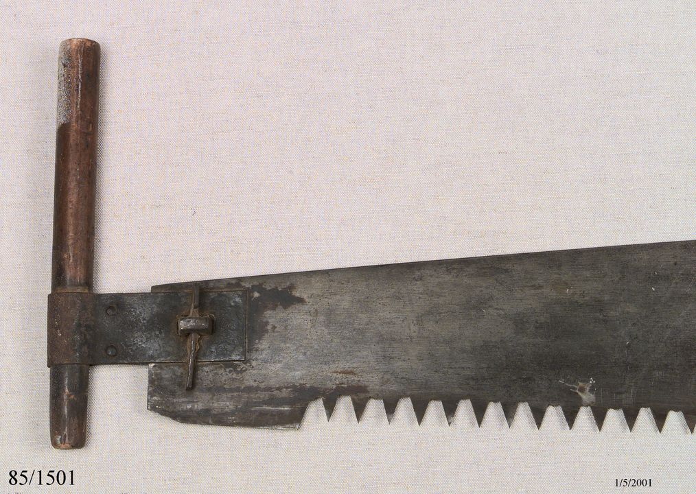 85/1501 Pit saw, steel blade, with Safety block. Click to enlarge.