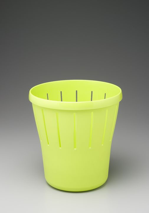 2006/19/1 Wastepaper bin, 'Classique collection', plastic, designed by Design+Industry, Balmain, New South Wales, Australia, 2003, made by Snaith Industries, Revesby, New South Wales, Australia, 2005. Click to enlarge.