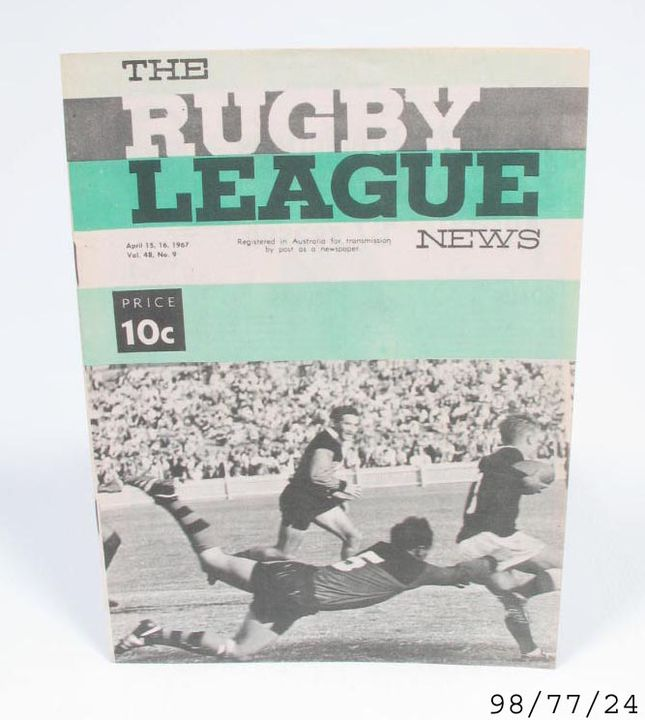 98/77/24 Program, football, Rugby League News, paper, Australia, 15 April 1967. Click to enlarge.